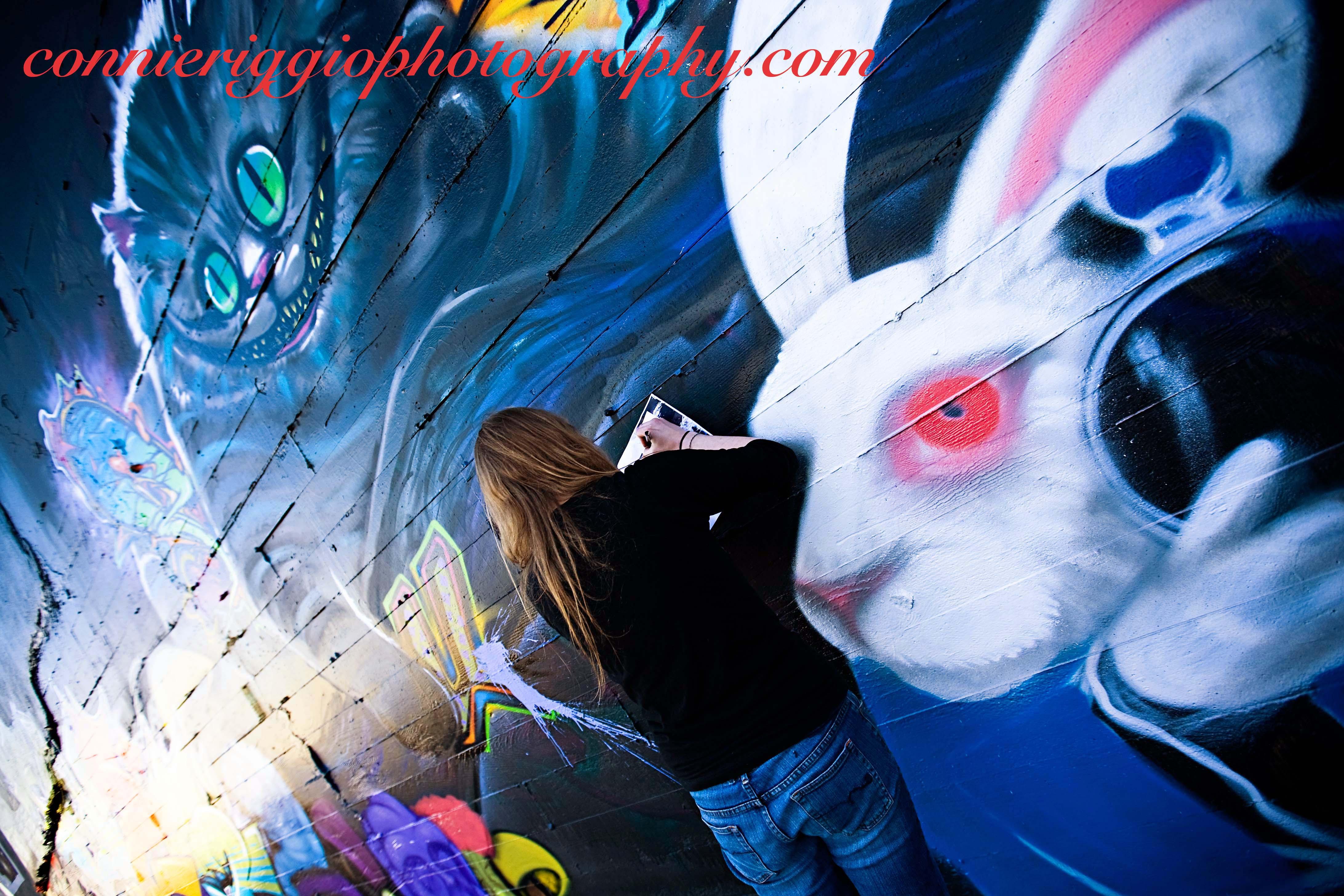 Graffiti wall tacoma - Alice In Wonderland Graffiti Wall