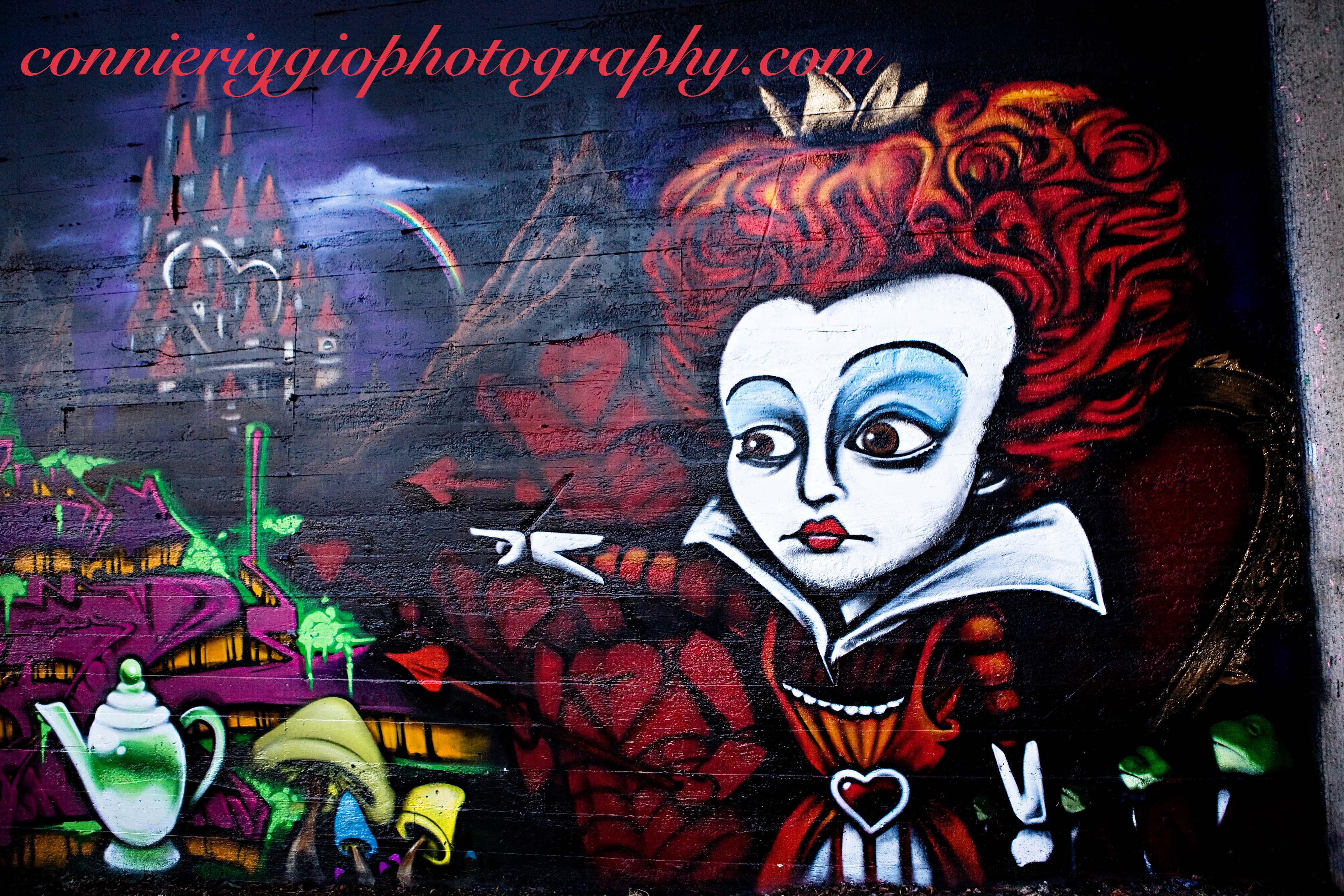Graffiti Wall – Alice in Wonderland Update